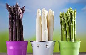 Image result for different coloured asparagus
