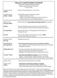 Meet And Greet Meeting Agenda 2016 Family Reunion Agenda Itinerary Family Reunion