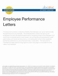 Appreciation Letter To Employee For Good Performance Fresh Doc