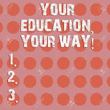 Text Sign Showing Your Education Your Way Conceptual Photo Educational
