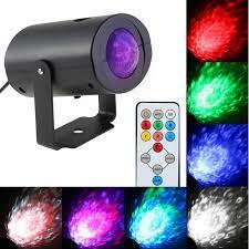 Disko ışık Mini LED sahne ışık efekti RGBW su dalga dalgalanma hız  ayarlanabilir 7 renk uzaktan kumanda ile RGB flaş KTV parti Bar|led stage  lighting effect|light effectstage lighting effect - AliExpress