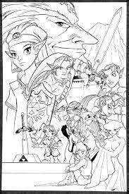 Zelda 45 Jeux Vid Os Coloriages Imprimer