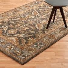 7 by 9 rug hand hooked dark taupe grey wool rug 7 x 9 area rugs