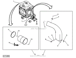 dr power premier llv parts diagram for blower assembly 8 5 ftp elbow and hose assemblies
