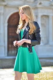 holiday dressing short dress with leather jacket ideas