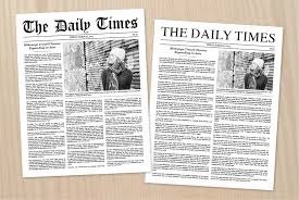 Newspaper Article Design Newspaper Article Template Newspaper Text Article Indesign