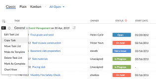Gantt Chart For Repeated Tasks Tasks Online Help Zoho Projects