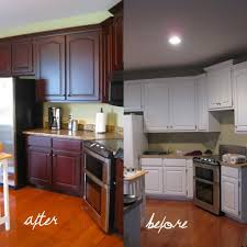 Painting Cherry Kitchen Cabinets White Photobucket With Decor