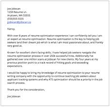 Examples Of Cover Letters For Resume