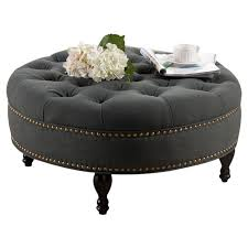 best 25 round tufted ottoman ideas on blue ottoman pertaining to round tufted ottoman coffee table