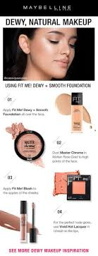 influencer cidysecrets shows you how to get this gorgeous dewy natural makeup look using maybelline fit me dewy and smooth foundation first apply fit