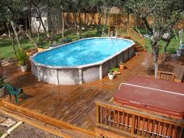 above ground pool with deck and hot tub. I Showed You An Example Of How One Deck Incorporated Both Above Ground  Pool And Hot Tub Above, But This Is A Little Different. With N
