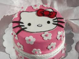 Hello Kitty Birthday Cake With Mini Cupcakes Cake By Loracakes