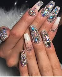 Gel Nail Designs With Diamonds Pin By Latoya