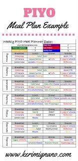 piyo meal plan piyo meal planning nutrition guide pilates yoga