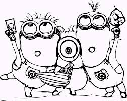 11 Cute Minions Coloring Pages Coloring