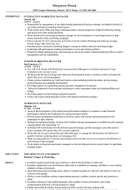 Marketing Manager Resume Samples Velvet Jobs
