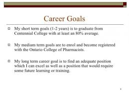 What Is A Career Goal 11 12 Short Term Career Goals Examples Elainegalindo Com
