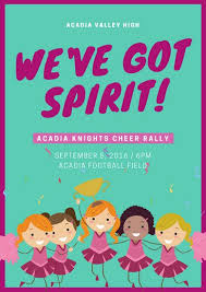 Rally Templates Illustrated Cheerleading Rally Poster Templates By Canva