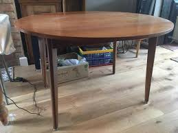 60 s 70 s retro wooden round fold down table
