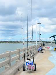 fishing carts on vilano fishing pier