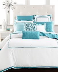 shapely hotel collection embroidered aqua frame bedding collection hotel collection aqua embroidered frame bedding collection in