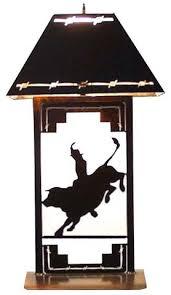 ts041259 western table lamp bullrider western table lamps90