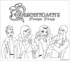 Disney Descendants Coloring Pages Playanamehelp