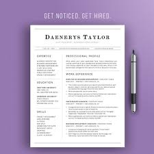 Modern Business Resume Template Professional Resume Template Simple Resume Design Instant