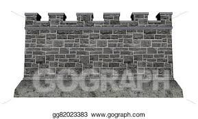 castle wall background clipart