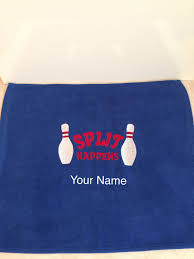 Bowling Machine Embroidery Designs Embroidered Bowling Towel With Or Without Grommet Hook By