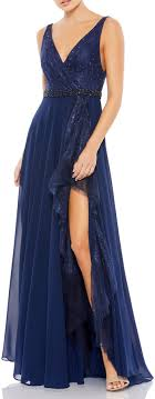 Free delivery and free returns on ebay plus items! Mac Duggal High Low Lace Gown Shopstyle Evening Dresses