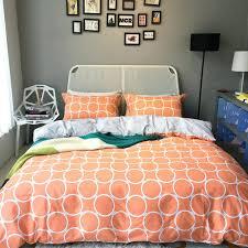 geometric duvet geometric bedding set print cool orange soft cotton duvet cover set king grey geometric