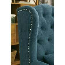 furniture of america boswell tufted accent chair in dark teal