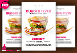 Burger Flyer Free PSD FreedownloadPSD Interesting Free Sample Flyers