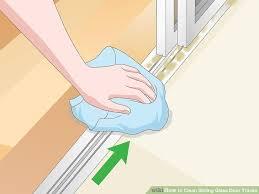 image titled clean sliding glass door tracks step 11