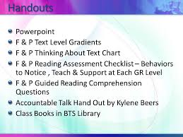F And P Reading Level Chart Lucy Ragoza Reading Specialist Bedminster Township School