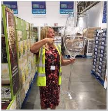 oct 31 2018 a giant 46 inch tall wine glass has been spotted at costco it s for decorative purposes but people have posted photos to social media