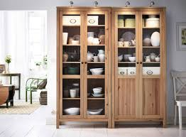 gorgeous living room storage cabinet featuring graded shelves with glass door and modern attached top lightings
