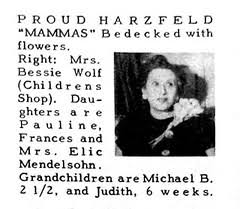 48 | My mother's mother, Bessie Wolf, in the notices section… | Flickr