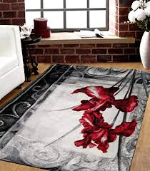 savahome 1776 blc red 5 feet by 7 feet decorative black blue squares area rug designer s choice extremely durable stain resistant smooty cozy pet friendly