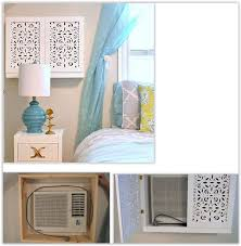 window air conditioner inside. decorative cover for a window air conditioner inside