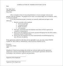 Letter Of Termination Of Employment Termination Notification Letter