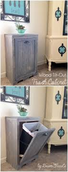 Diy Kitchen Cabinet Drawers 25 Best Ideas About Trash Can Cabinet On Pinterest Cabinet