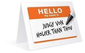 Image result for holier-than-thou