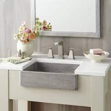 Bathroom Apron Sink Nipomo Rectangular Nativestonear Bathroom Sink Native Trails