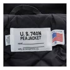 schott nyc us 740n peacoat navy jacket