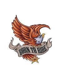 Orel Born To Ride Nalepovací Tetování