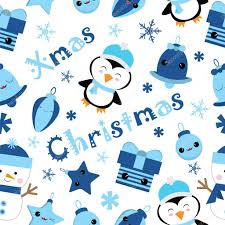 cute penguin christmas wallpaper. Plain Cute Seamless Background Of Christmas Illustration With Cute Penguin Bell  Gift And Star Suitable For Children Xmas Wallpaper Scrap Paper Postcard  Inside Cute Penguin Wallpaper