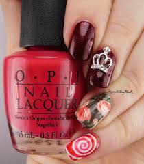Queen of the Roses birthday nail art | Be Happy and Buy Polish